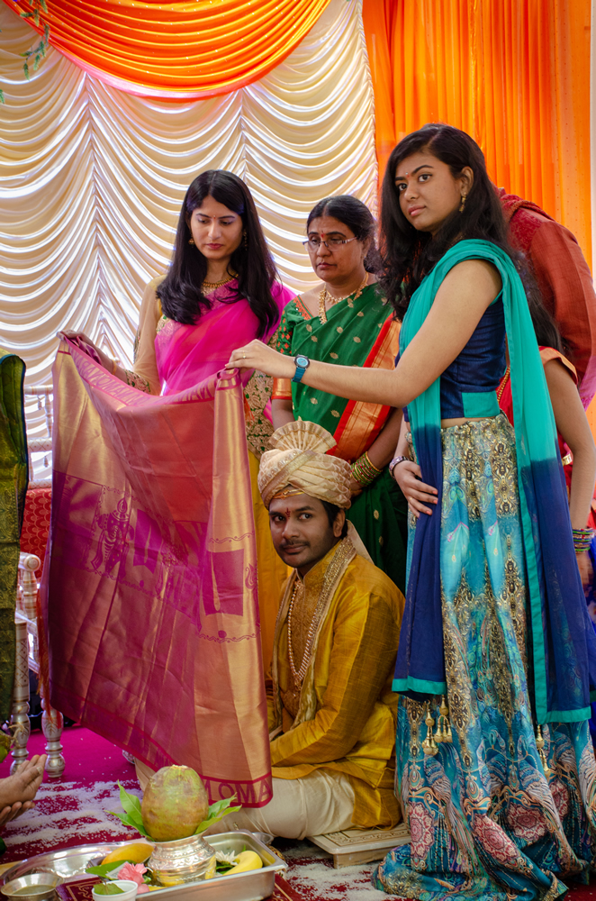 Beautiful Indian Wedding And The Handsome Indian Groom Waits